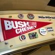 Campaign memorabilia at George W. Bush Presidential Center in Dallas