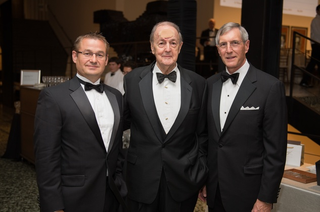 Bart Brechter, from left, Bill Hill and Jeffrey Stone at Museum of Fine Arts Houston MFAH One Great Night November 2014