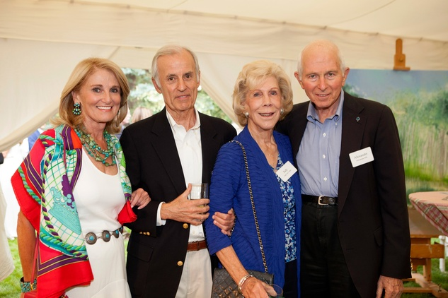 Denise Monteleone, from left, Jim Martin, Judy Allen and Alex Dell at M.D. Anderson in Aspen July 2014