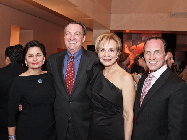 Beth Madison, from left, Ralph Burch, Leisa Holland Nelson and Robert Davenport at the Medical Bridges gala October 2013