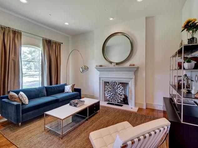 Living room at 3417 Villanova in Dallas