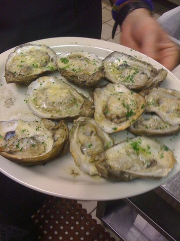 Danton's charbroiled oysters