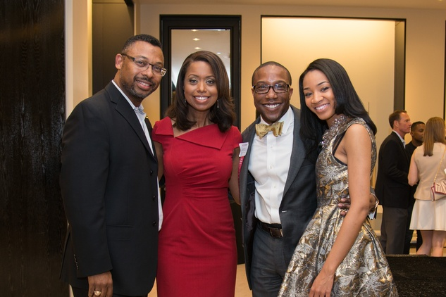 Bert Jennings III, from left, Melinda Spaulding, Arthur Bryan and Netosha Kennerson at the Leukemia & Lymphoma Society Man & Woman of the Year Kick-off April 2015