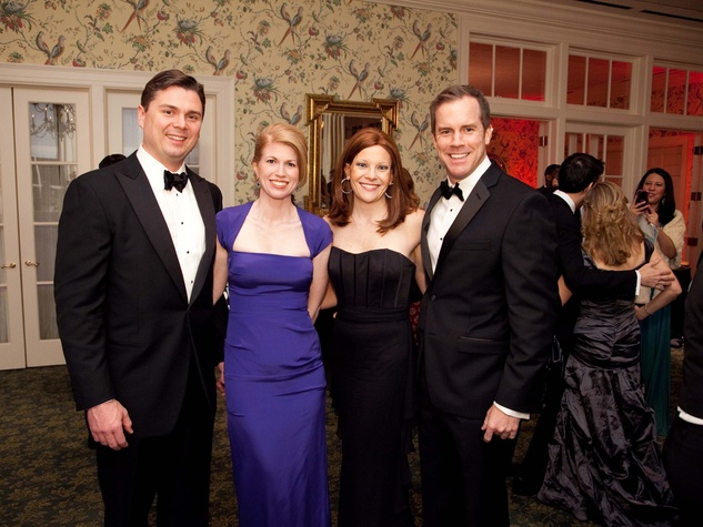 3 Collin and Jacquelyn Cox, from left, and Maidie Ryan  and Clayton Walberg at the Junior League of Houston Charity Ball February 2014