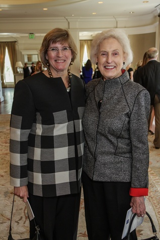Elizabeth Brueggeman, left, and Janice Barrow at the Huffington Center on Aging luncheon October 2014