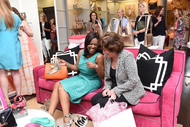 Houston, Elaine Turner Apparel Launch Party, May 2015, Sharron Melton, Nancy Levicki