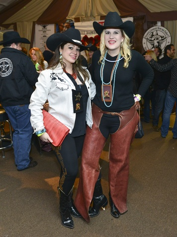 20 Ashley Womack, left, and Katherine Lacey at the Houston Rodeo barbecue cook-off February 2014