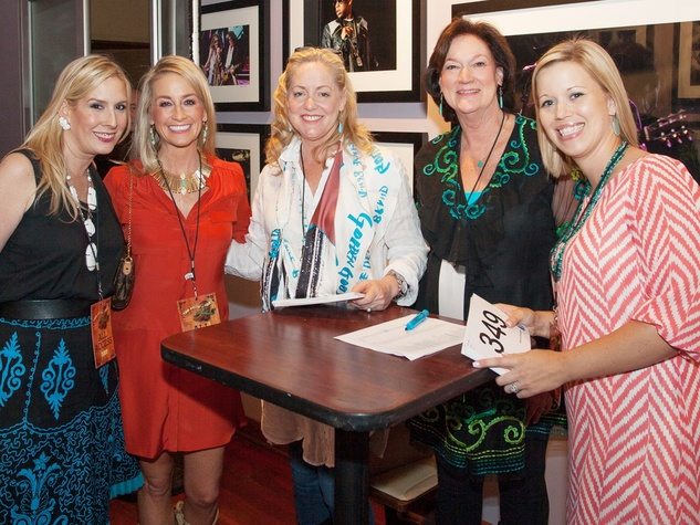 Amy Werlin, from left, Amy Dunn, Jana Gunter, Cynthia Adkins and Genny Gomez at Two Steppin' with TIRR Concert with Jerry Jeff Walker and Clay Walker October 2014