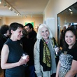 Page Kempner, from left, Fredericka Hunter and Phuong Tranvan at Slavka Glaser's  FotoFest reception March 2014