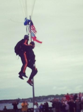 George H.W. Bush skydiving 95 birthday June 12, 2014