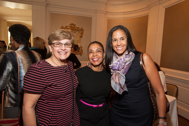 Dr. Mariam Chacko, from left, Angelina Jackson and Dr. Heather Needham at the Foundation for Teen Health luncheon October 2014