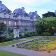 Luxembourg Palace grounds at night June 2013