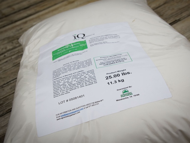 Photo of IQ Amino N fertilizer bag