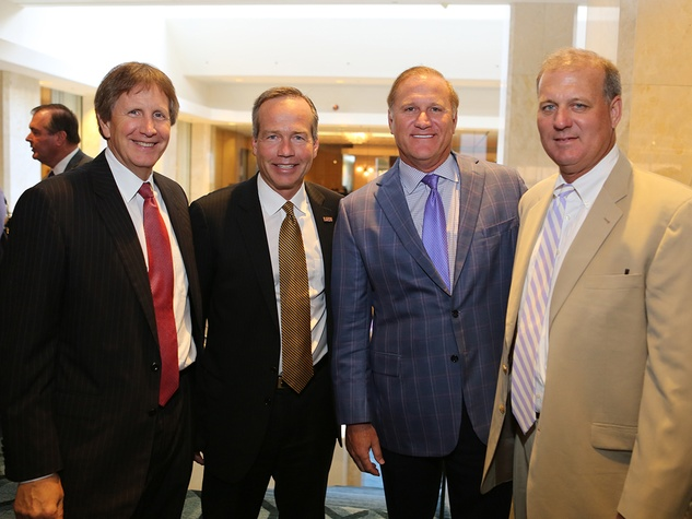 Billy Harrison, from left, F. King Alexander, Keith Jordan and Jeff Springmeyer at the LSU Foundation luncheon June 2014