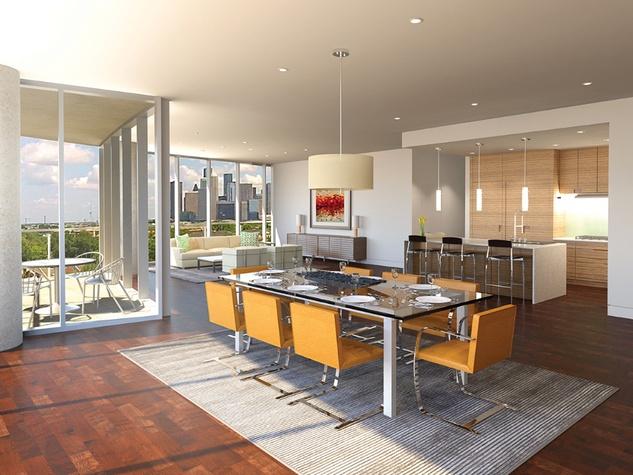 3615 Montrose rendering February 2015 residence interior