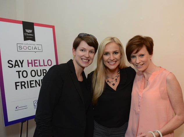 22 Jeanne Casagrande, from left, Karli Stegeman and Christine Kearns at the CultureMap Social at Gremillion and Co. Fine Art March 2015