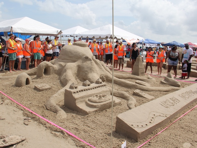 AIA Sandcastle contest, Galveston, 8/16