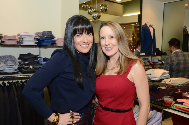Tiffany Halik, left, and Andrea Sivells at the Festari Holiday Party December 2014