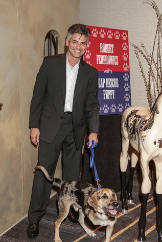 Robert Fedrowicz with Harold at the Citizens for Animal Protection Gala November 2014
