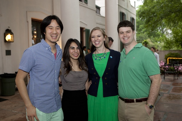 Justin Kwan, from left, Vicci Faz and Lauren and Kevin Hirschberg at Bayou Bend's Bubbly on the Bend April 2014