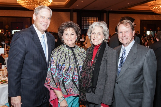 Corby and Barbara Robertson, from left, Beth Robertson and Steven Pearce at the National Philanthropy Day Awards November 2014