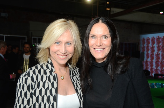 06 Susan Claffy, left, and Susan Taylor at the DiverseWorks Fashion Fete November 2014