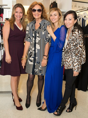Elisa Summers, Diane von Furstenberg, Nasiba Adilova, and Tina Craig