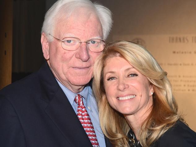 Mark White and Wendy Davis in Houston November 2013