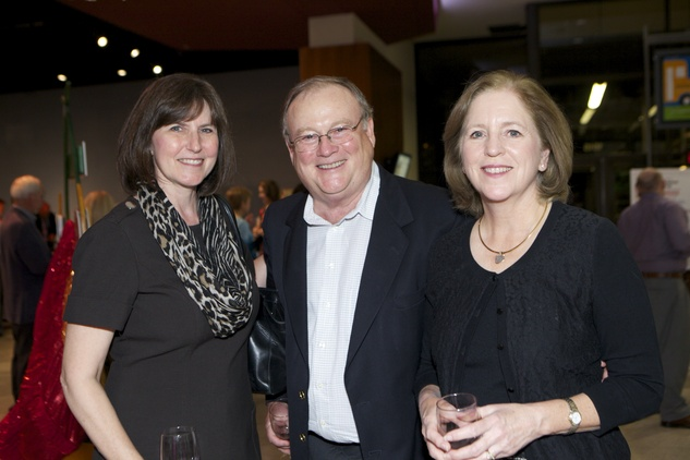 1248 Jan Johnson, from left, with Bill and Jean Frazer at the Passport to the World wine and food event at The Health Museum October 2014