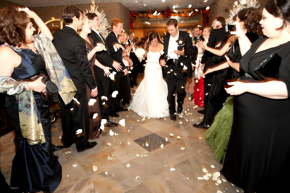 News, Shelby, Spectacular Weddings, petal toss, Emily Robinson, Zach Asmus February 2014