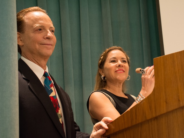14-20 Lester Marks and Dr. Penelope Gonzalez Marks at the Community Artists' Collective's luncheon September 2014