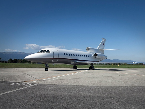Falcon 900 EX, jet, private plane