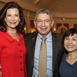 Betty Hrncir, from left, Dr. Paul Klotman and Dr. Hui Zheng at the Huffington Center on Aging luncheon October 2014