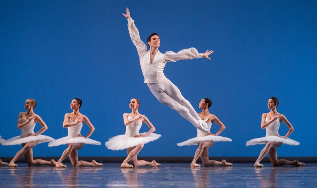 Houston Ballet Modern Masters March 2015 Connor Walsh and Artists of Houston Ballet in Etudes choreographed by Harald Lander