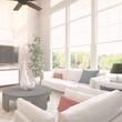 Living room at Villas at Garrett Avenue in Dallas