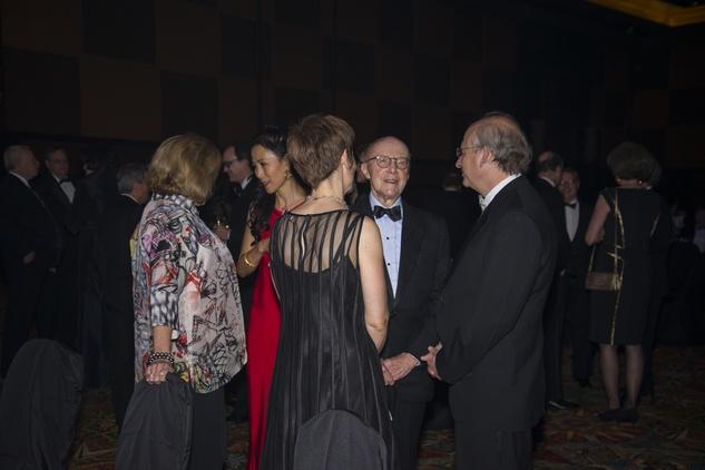 7 Ping Sun and David Leebron at the Rice Design Alliance Gala November 2014