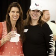 Melissa Mithoff, left, and Rosemarie Johnson at The Society for Leading Medicine Houston Texans Family Field Day May 2014