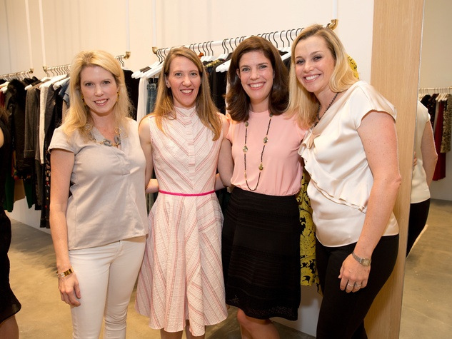 Alice and Olivia opening, 8/16, Courtney Toomey, Michelle Phillips, Jennifer Laporte, Molly Voorhees