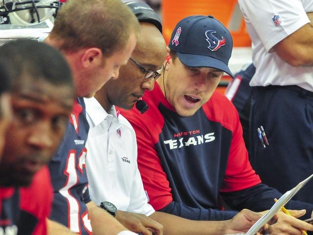 Case Keenum Yates sideline Texans
