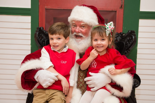 5 Charlie Perez and Josie Perez with Santa at the M.D. Anderson Breakfast with Santa December 2014
