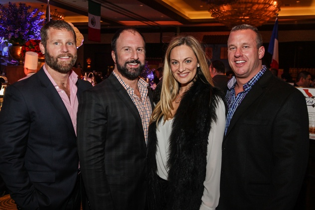 11 Kevin Black, from left, Tony Bradfield and Rachel and Tom Regan at The Social Book 2015 Launch Party January 2015