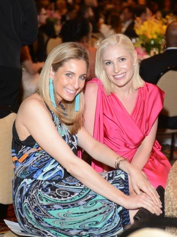 Luvi Wheelock, left,  and Isabel David at the JDRF Gala April 2014
