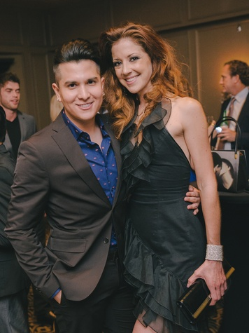 Angel Woolsey and Emily Maus at the Fashion Houston Launch Party October 2013