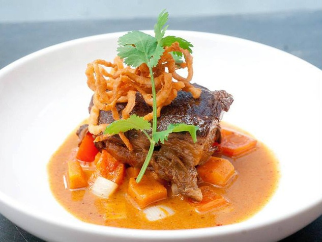 Short rib at Pakpao Thai restaurant in Dallas