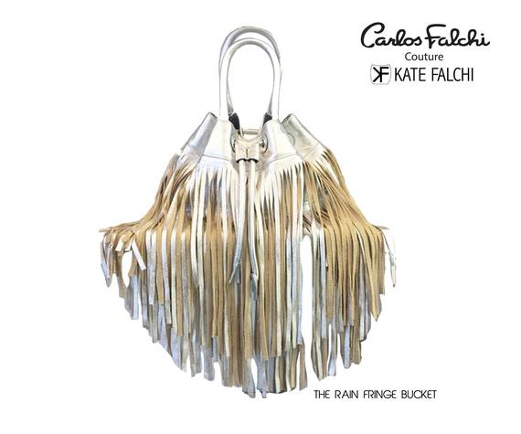 Kate Falchi fringe handbag at Elizabeth Anthony