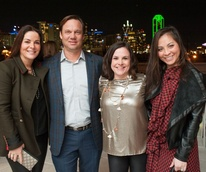 Paige Westhoff, Theron Bryant, Jennifer Burns, Samantha Wortley, Partners Card 2018