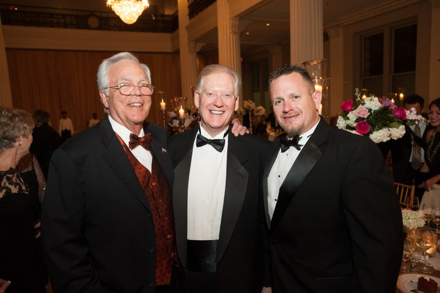 Thorndike Howe, from left, Jim White and David Danielson at The Women's Home Gala November 2014