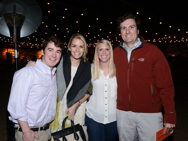 William Manning, Kate Van Amburgh, Gretchen Manning, Jere Thompson, RMHD Young Friends Party