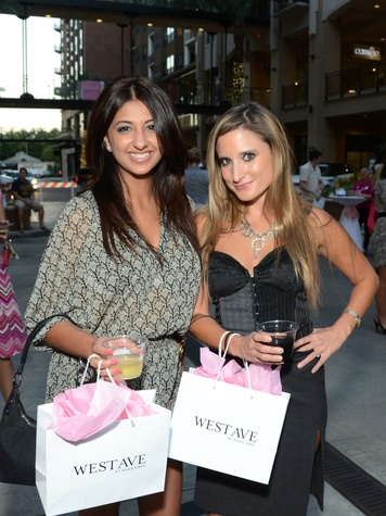 11 Megha Tejpal, left and Alexandra Kleinschmidt at the West Ave Turns Pink party October 2013