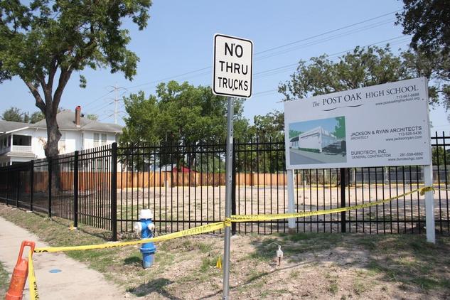 Lack of Zoning, Post Oak School, June 2012